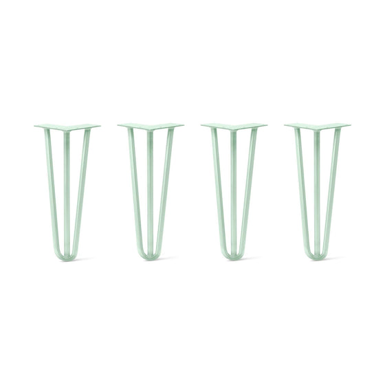 Hairpin Legs Set of 4, 3-Rod Design - Mint Powder Coated Finish