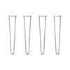 Hairpin Legs Set of 4, 2-Rod Design - Grey Powder Coated Finish