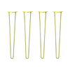 Hairpin Legs Set of 4, 2-Rod Design - Yellow Powder Coated Finish