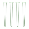 Hairpin Legs Set of 4, 2-Rod Design - Mint Powder Coated Finish