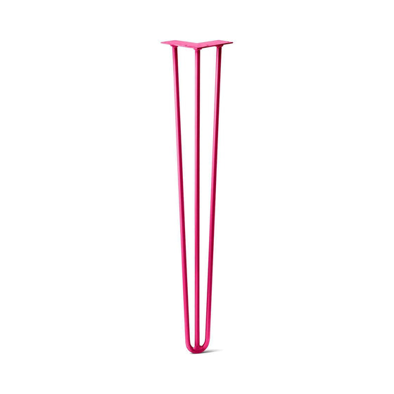 Hairpin Leg (Sold Separately), 3-Rod Design - Fuchsia Powder Coated Finish