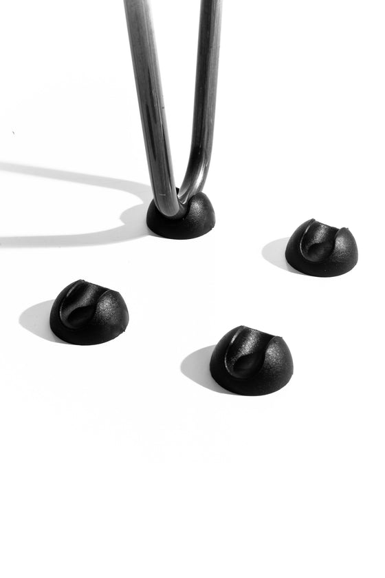 DIY Hairpin Legs Hairpin Legs Hairpin Leg (Sold Separately), 2-Rod Design - Jet Black Satin Powder Coated Finish