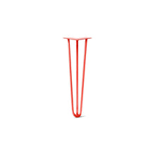 "DIY Hairpin Legs Hairpin Legs Orange-Red / 20"" / 3/8"" Hairpin Leg (Sold Separately), 3-Rod Design - Orange-Red Powder Coated Finish"
