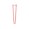 Hairpin Leg (Sold Separately), 2-Rod Design - Orange-Red Powder Coated Finish
