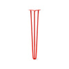 Hairpin Leg (Sold Separately), 3-Rod Design - Orange-Red Powder Coated Finish