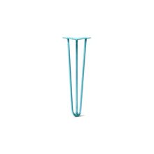 "DIY Hairpin Legs Hairpin Legs Teal / 20"" / 3/8"" Hairpin Leg (Sold Separately), 3-Rod Design - Teal Powder Coated Finish"