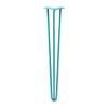 Hairpin Leg (Sold Separately), 3-Rod Design - Teal Powder Coated Finish