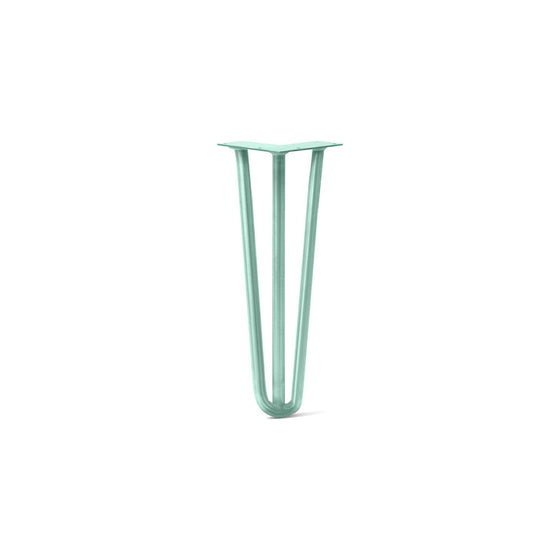 Hairpin Leg (Sold Separately), 3-Rod Design - Turquoise Powder Coated Finish
