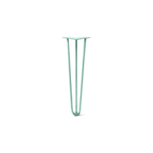 "DIY Hairpin Legs Hairpin Legs Turquoise / 20"" / 3/8"" Hairpin Leg (Sold Separately), 3-Rod Design - Turquoise Powder Coated Finish"