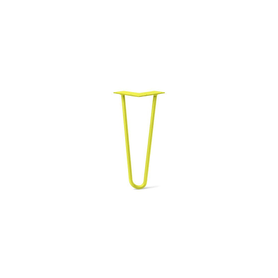 Hairpin Leg (Sold Separately), 2-Rod Design - Yellow Powder Coated Finish
