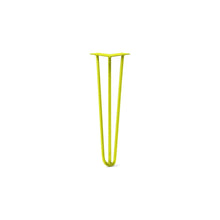 "DIY Hairpin Legs Hairpin Legs Yellow / 20"" / 3/8"" Hairpin Leg (Sold Separately), 3-Rod Design - Yellow Powder Coated Finish"