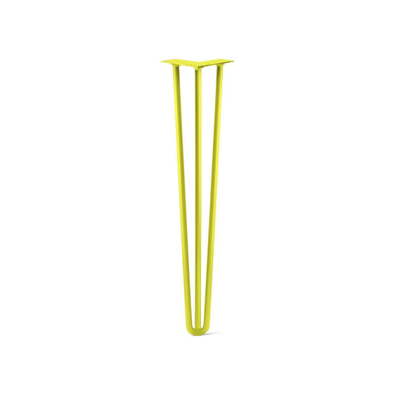 Hairpin Leg (Sold Separately), 3-Rod Design - Yellow Powder Coated Finish