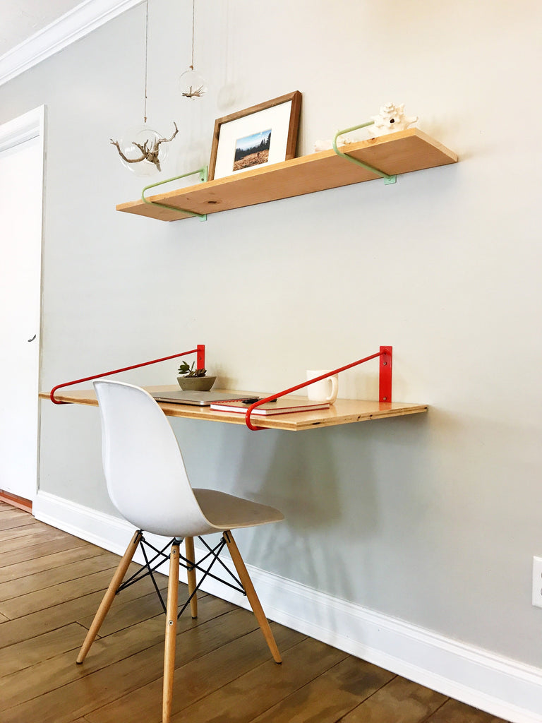 Diy Hairpin Legs Shelf Brackets Pair Of Floating Desk
