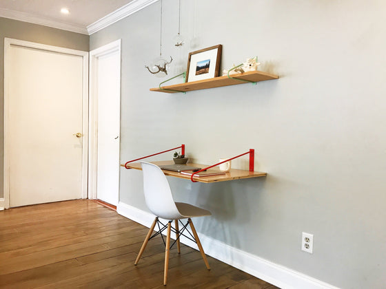 DIY Hairpin Legs Shelf Brackets Pair of Original Hairpin Shelf Brackets | Floating Desk Brackets