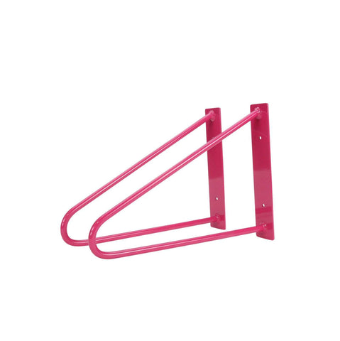 DIY Hairpin Legs Shelf Brackets Pair of Original Hairpin Shelf Brackets | Floating Desk Brackets - Fuchsia