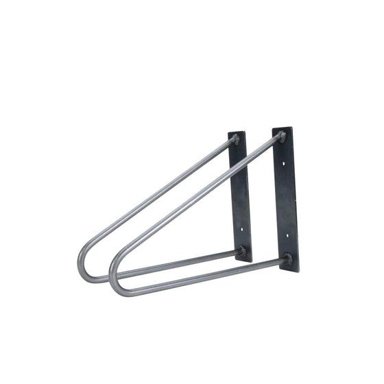 "DIY Hairpin Legs Shelf Brackets Raw Steel / Fits 6"" Shelf Pair of Original Hairpin Shelf Brackets 