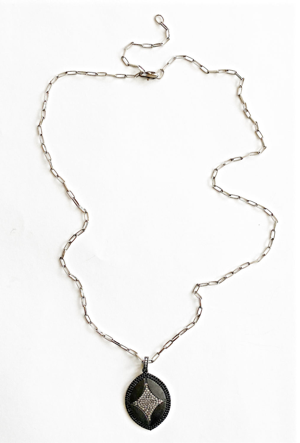 Nathan & Moe Diamond Marquis Charm Necklace