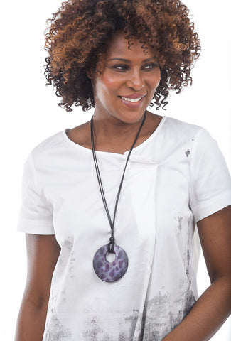 Sylca Designs Leona Necklace, Purple