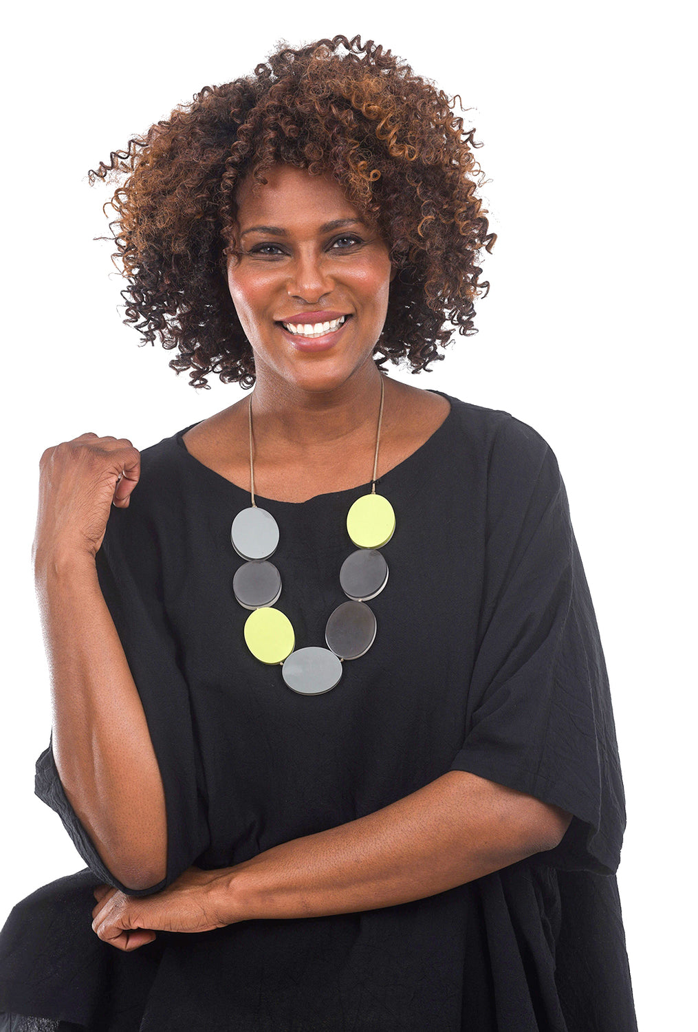 Sylca Designs Cissy Necklace, Lime