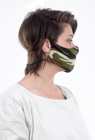 Color Me Cotton CMC Print Face Mask, Army Camo