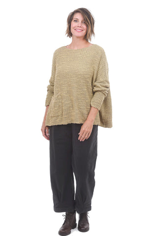 Cut Loose Textured Pocket Pullover, Chai One Size Chai