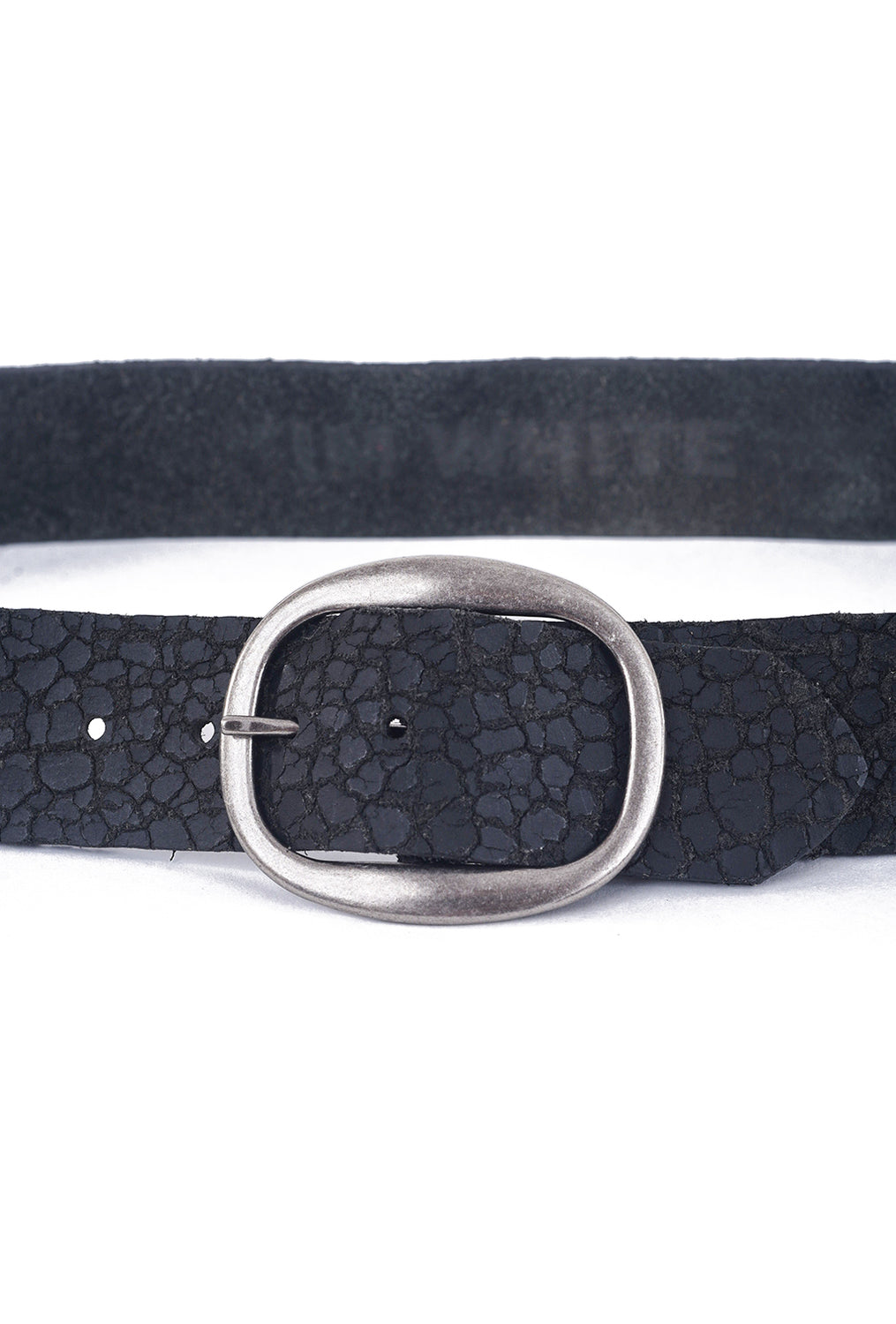 Kim White Heirloom Basic Belt, Black Distressed