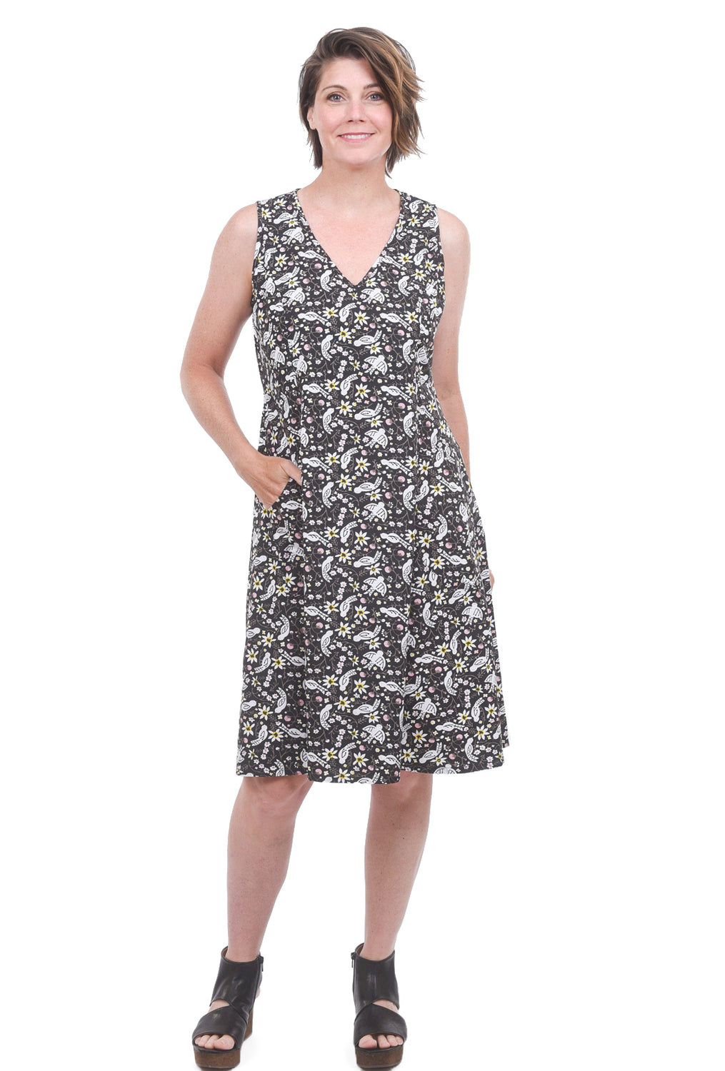 Tulip Myla Dress, Black Robin