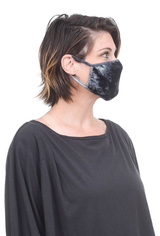 Coin1804 Cotton Jersey Face Mask, Black Tie-Dye