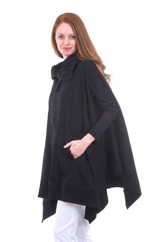Divka Trapeze Swing Jacket, Black