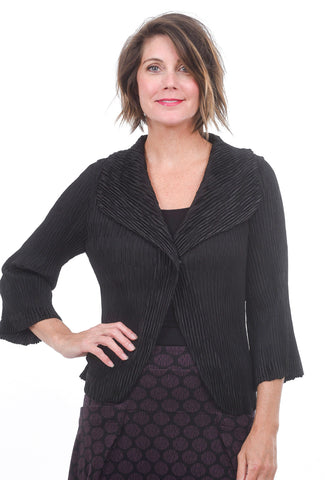 Veeca Waffle Evening Jacket, Black