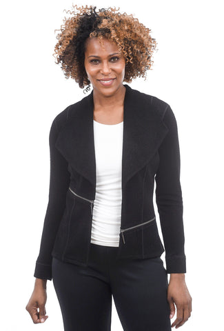 Eva Varro Pebbled Short Barcelona Jacket, Black