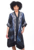 Dressori Plunge Moon Dress, Indigo Blue