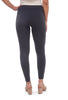Tees by Tina TbT MicroRib Long Leggings, Storm Gray One Size Gray