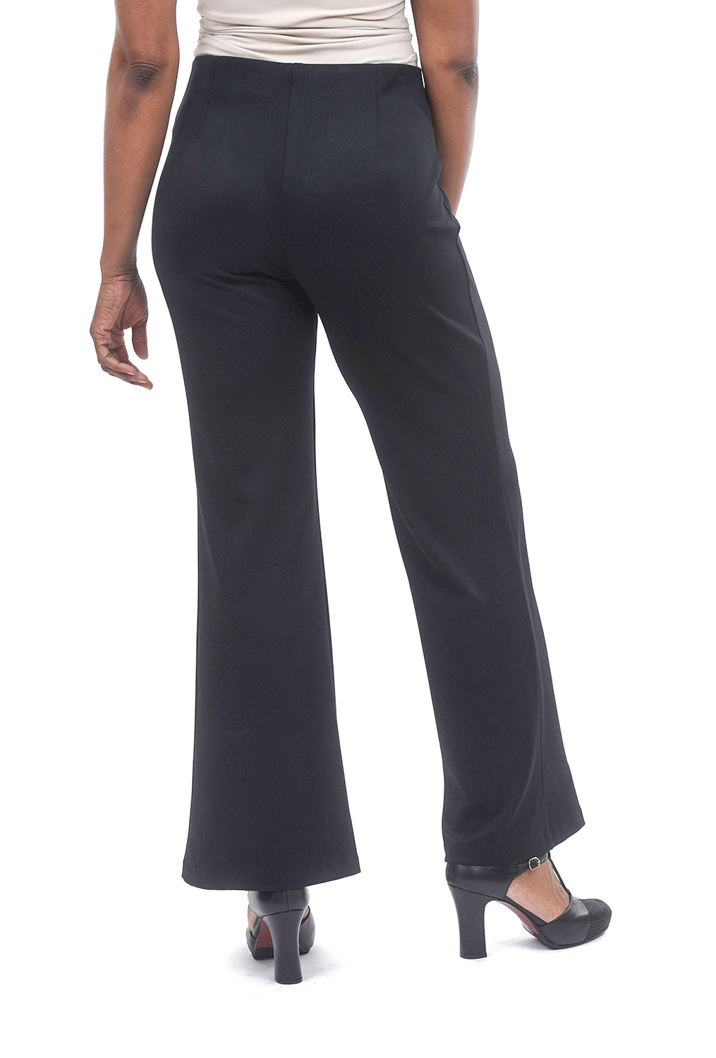 Equestrian Creased Sandy Pants, Black