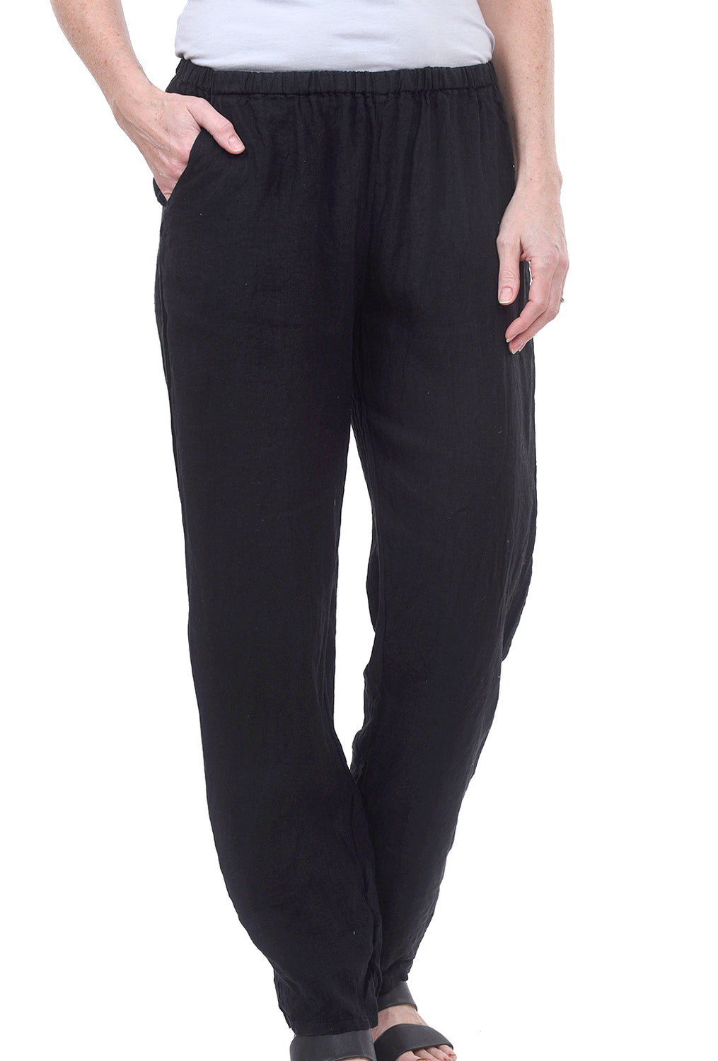 CP Shades Linen Rosie Pants, Navy Ink