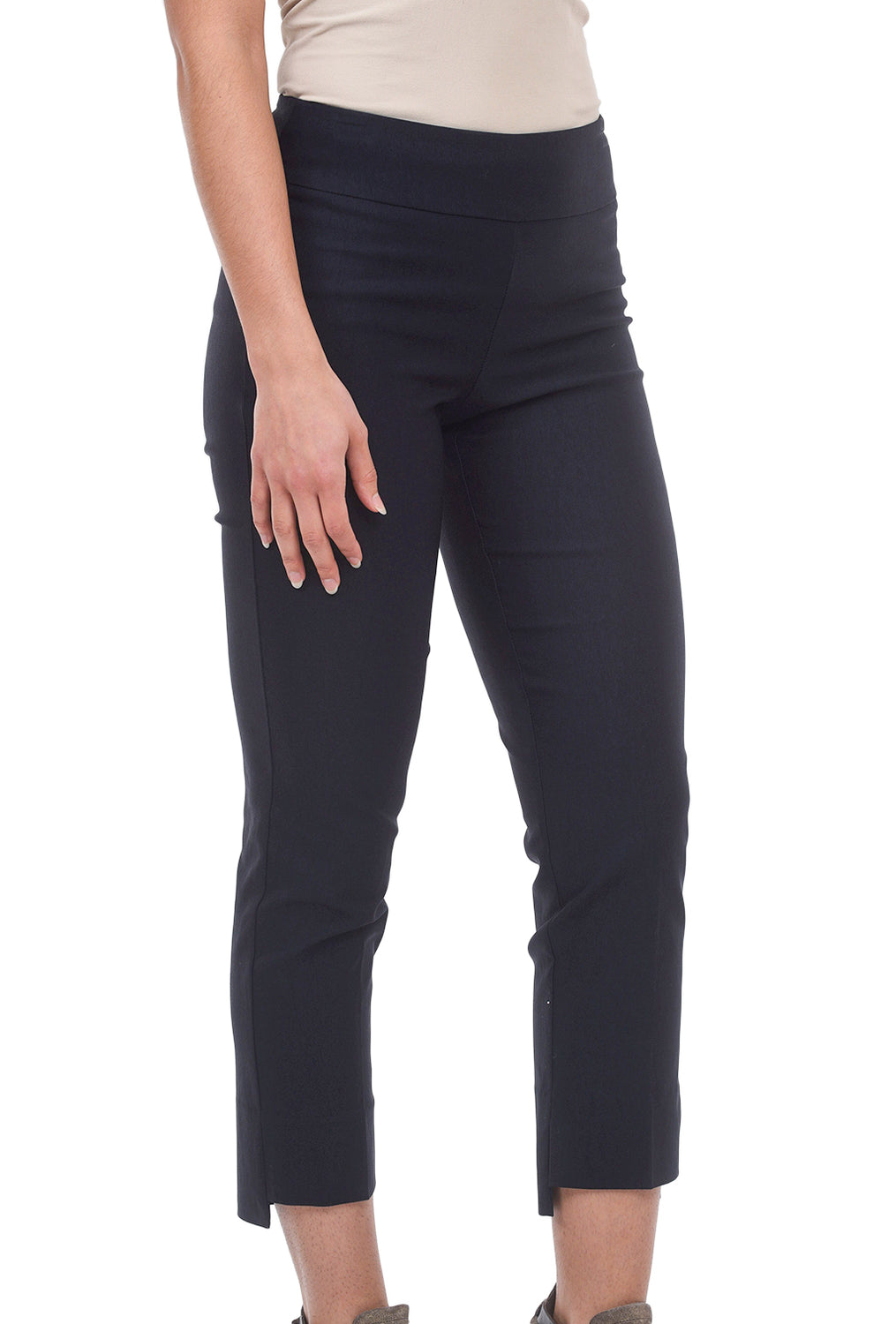 Estelle & Finn Step-Hem Stretch Trouser, Navy