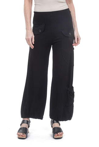 Equestrian Andi Jersey Pants, Black