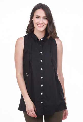 Tulip Lucy Blouse, Black