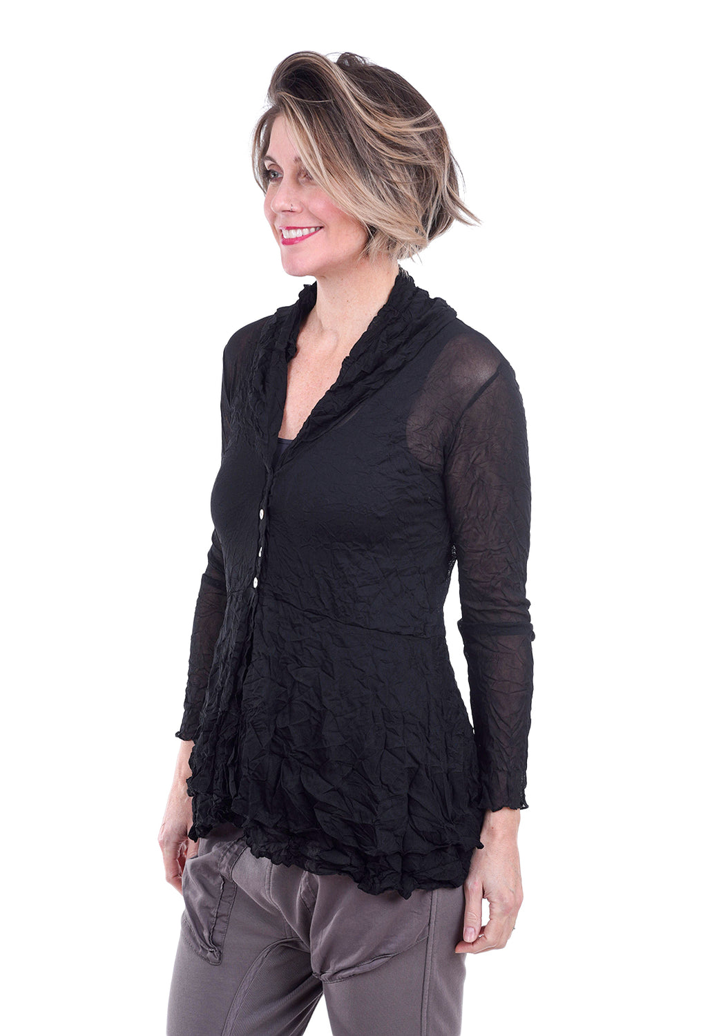 Comfy USA Natalie Mesh Jacket, Black
