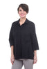 Alembika Sleek Button-Down Shirt, Black