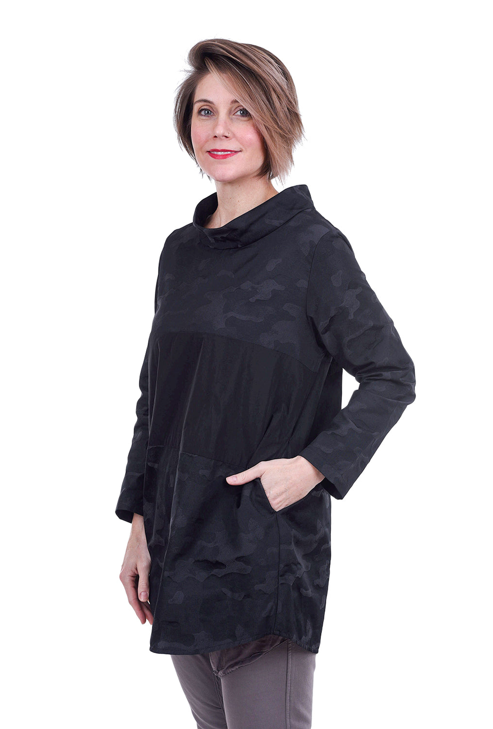 Sun Kim April Tunic, Black Camo