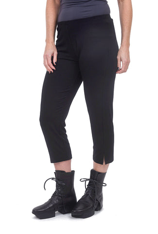 Comfy USA Basic Slim Cropped Pant, Black