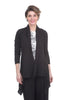 Cut Loose Linen Knit Inset Cardie, Black