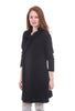 Divka Snap Placket Topper, Black