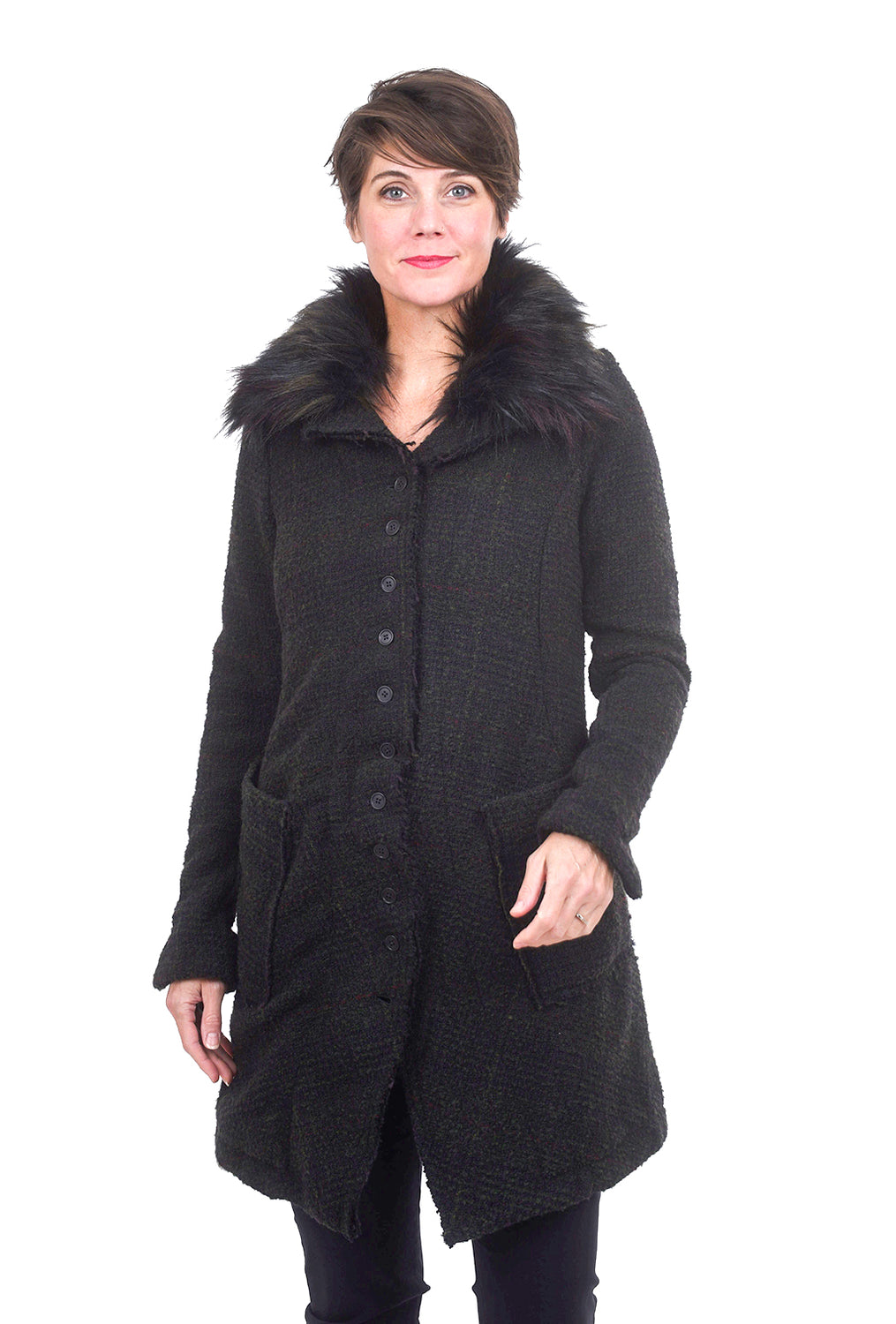 Rundholz Black Label Fur-Trim Collar Coat, Original