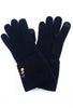 Santacana Madrid Button-Cuff Knit Gloves, Black One Size Black