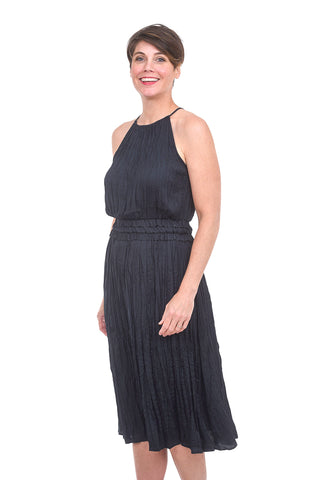 Current Air Pleated Halter Dress, Dark Navy