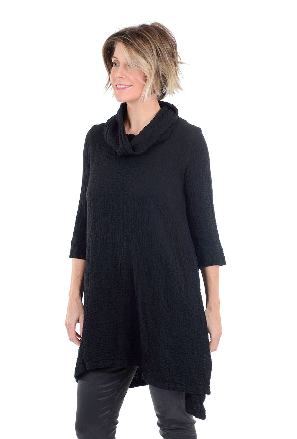 Grizas Luscious Crinkle Tunic, Black