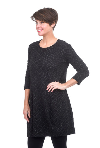Niche Angles Knit Tidal Tunic, Black