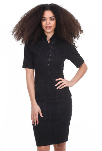 Prairie Underground Revel Denim Dress, Black